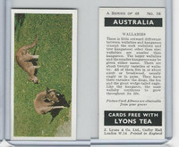 L0-0 Lyons Tea, Australia, 1959, #18 Wallabies