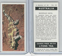 L0-0 Lyons Tea, Australia, 1959, #23 Mountain Devil