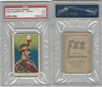 T79 Fez, Lenox, Tolstoi, Military, 1910, Field Marshall, Japan, PSA 1.5