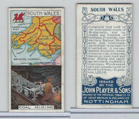 P72-28a Player, Counties & Industry, 1914, South Wales, Coal Mining