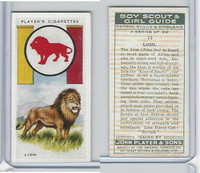 P72-68 Player, Boy Scout & Girl Guide, 1933, #11 Lion