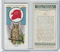P72-68 Player, Boy Scout & Girl Guide, 1933, #13 Owl