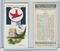 P72-68 Player, Boy Scout & Girl Guide, 1933, #21 Swift Bird