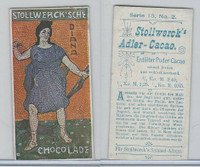 S0-0 Stollwerck Chocolate, Greek Gods, 1904, #2 Diana