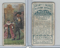 W62-86 Wills, Historic Events, 1912, #30 Charles I Demanding Surrender