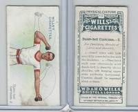 W62-96 Wills, Physical Culture, 1914, #19 Dumb Bell Excercises