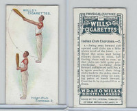 W62-96 Wills, Physical Culture, 1914, #27 Indian Club Excercises