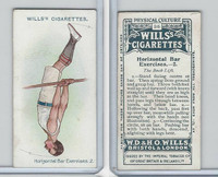 W62-96 Wills, Physical Culture, 1914, #36 Horizontal Bar Excercises