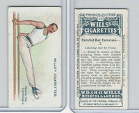 W62-96 Wills, Physical Culture, 1914, #40 Parallel Bar Excercises