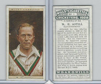 W62-126 Wills, Cricketers, 1928, #1 W.E. Astill