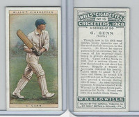 W62-126 Wills, Cricketers, 1928, #16 G. Gunn, Notts.