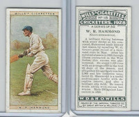 W62-126 Wills, Cricketers, 1928, #18 WR Hammond, Gloucestershire