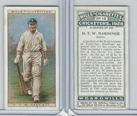 W62-126 Wills, Cricketers, 1928, #19 HTW Hardinge, Kent