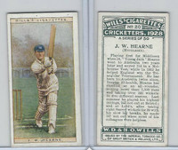 W62-126 Wills, Cricketers, 1928, #20 JW Hearne, Middlesex