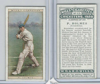 W62-126 Wills, Cricketers, 1928, #23 P Holmes, Yorkshire