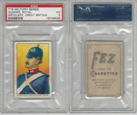 T79 Fez, Lenox, Tolstoi, Military, 1910, Gunner Royal, Great Britain, PSA 3