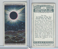 W62-173 Wills, Romance of the Heavens, 1928, #44 Eclipse of the Sun