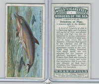 W62-187 Wills, Wonders of the Sea, 1928, #1 Dolphins at Play