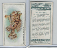 W62-187 Wills, Wonders of the Sea, 1928, #11 The Frog Fish