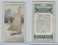 W62-95 Wills, Overseas Dominions Canada, 1914, #12 Ice-Boat Sailing
