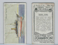 C0-0 Champion, Ships of the World, 1924, #21 Steam Yacht