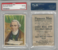 D124 Weber Baking, Famous Men, 1920, Patrick Henry, PSA 2 Good
