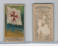 N10 Allen & Ginter, Flags of all Nations, 1890, Malta