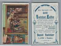 V0-0 Voelcker Kaffee Card, Artist Series, #303-4 Tenniers