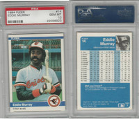 1984 Fleer Baseball, #14 Eddie Murray HOF, Orioles, PSA 10 Gem PZX