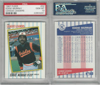 1987 Fleer Leaders Baseball, #32 Eddie Murray HOF, Orioles, PSA 10 Gem PZX