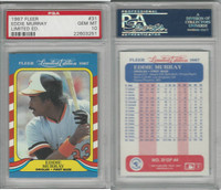 1987 Fleer Limited Baseball, #31 Eddie Murray, Orioles, PSA 10 Gem PZX POP 1