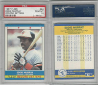 1987 Fleer Record Baseball, #24 Eddie Murray, Orioles, PSA 10 Gem PZX POP 1