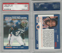 1990 Pro Set Football, #400 Ronnie Lott, 49ers, PSA 9 Mint