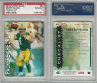 1993 Upper Deck Football, #82 Brett Favre, Packers, Checklist, PSA 10 Gem