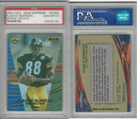 2000 Collectors Edge Supreme Football, #U163 Plaxico Burress, Pitt., PSA 10 Gem