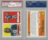 2006 Topps Turn Back the Clock Football, #21 Vince Young, Titans, PSA 10 Gem