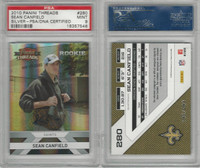 2010 Panini Threads Football, #280 Sean Canfield, Saints, Auto, PSA 9 Mint