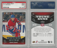 2010 Upper Deck Hockey, #232 J.T. Wyman, Canadiens, PSA 9 Mint