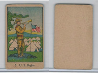 W Card, Strip Card, Military, 1920's, #5 US Buglar, USA Flag