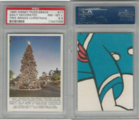 1965 Donruss, Disney Puzzleback, #17 Gaily Decorated Tree, PSA 8.5 NMMT+