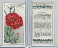 W62-139 Wills, Garden Flowers, 1933, #11 Carnation