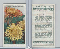 W62-139 Wills, Garden Flowers, 1933, #13 Chrysanthemums