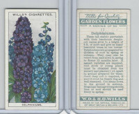 W62-139 Wills, Garden Flowers, 1933, #17 Delphiniums