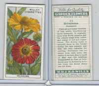W62-139 Wills, Garden Flowers, 1933, #23 Heleniums