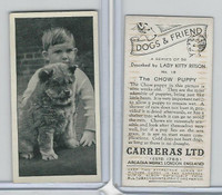C18-40 Carreras, Dogs & Friend, 1936, #18 Chow Puppy