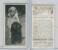 C18-40 Carreras, Dogs & Friend, 1936, #21 Cocker Spaniel