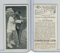C18-40 Carreras, Dogs & Friend, 1936, #32 Greyhound