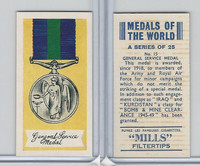 A46-32 Amalgamated, Medals Of World, 1959, #15 General Service Medal