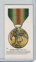T0-0 Tom Gunn Toys, Military Medals, 1960, #19 Victory Medal WWI