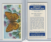 B0-0 Brooke Bond, British Butterflies, 1963, #13 Dark Green Fritillary